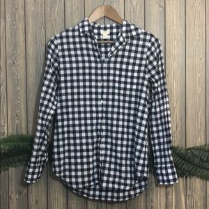 J Crew gingham button-down shirt in boy fit